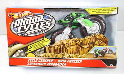 HOT WHEELS Motorcycles - Cycle Crusher Motorrad grün Spielzeug MATTEL Neu (K58)