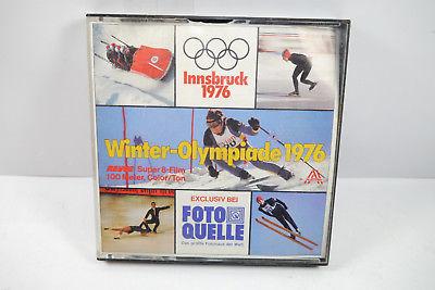 WINTER OLYMPIADE 1976 Innsbruck Super 8 Film Color / Ton Revue (K58)