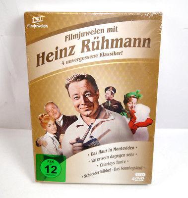 HEINZ RÜHMANN BOX - 4 seiner unvergessenen Klassiker auf 4 DVD 's NEU (WR4)