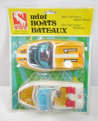MINI BOATS BATEAUX 7792 Police Elektro Racer + 7793 Tucker Riverboat MS TOY *K52