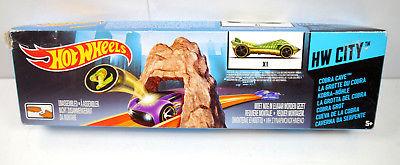 HOT WHEELS - HW City Cobra Cave / Kobra Höhle Spielset mit Auto MATTEL Neu (K50)
