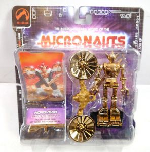 MICRONAUTS Retro Series - Acroyear gold Actionfigur PALISADES Neu #01 (K61)