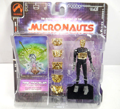 MICRONAUTS Retro Series - Time Traveler schwarz Actionfigur PALISADES #06 (K64)