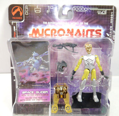 MICRONAUTS Retro Series - Space Glider gelb yellow Actionfigur PALISADES #02 K64