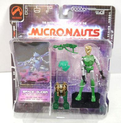 MICRONAUTS Retro Series - Space Glider grün green Actionfigur PALISADES #01 *K64