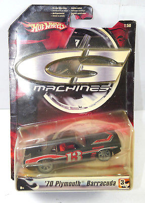 HOT WHEELS G Machines - 13 Plymouth Barracuda 1970 Modellauto MATTEL Neu (K67)