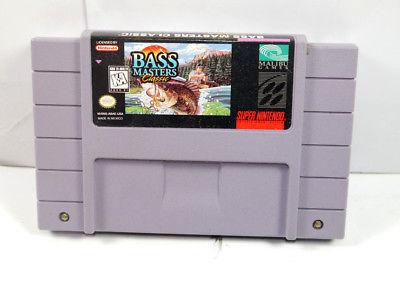 BASS MASTERS CLASSIC Spiel Modul SUPER NINTENDO Malibu Games (K69)