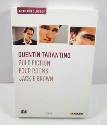 QUENTIN TARANTINO Arthaus - Pulp Fiction Four Rooms Jackie Brown DVD Set (WR4)