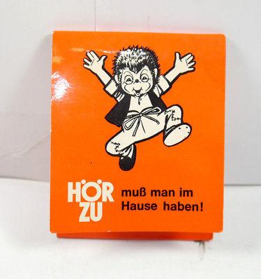 HÖR ZU Zeitschrift Beilage Werbematerial Streichhölzer Streichholz MECKI (K69)