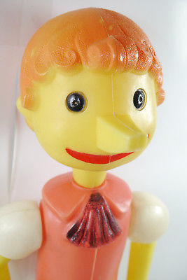 PINOCCHIO Puppe Spielzeug Kunststoff Burattino DDR UDSSR 70/80er ca.50cm (K69) 1