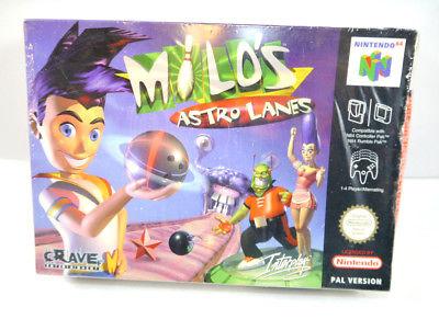MILO'S ASTRO LANES Spiel Nintendo 64 Eingeschweißt sealed NEU New (K34)