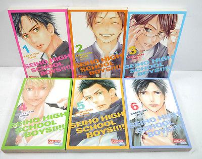 SEIHO HIGH SCHOOL BOYS Band 1 2 3 4 5 6 Manga Izumi CARLSEN Yaoi (MF4)