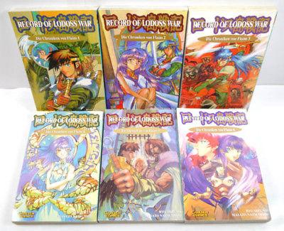 RECORD OF LODOSS WAR Chroniken von Flaim 1 2 3 4 5 6 Manga KOMPLETT CARLSEN *MF4