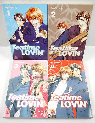 TEATIME LOVIN ' Band 1 2 3 4 Manga KOMPLETT Yaya Sakuragi CARLSEN Yaoi (MF4)