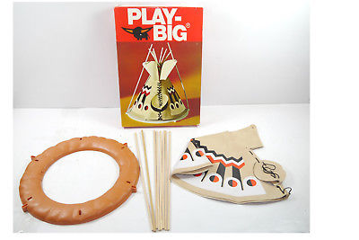 PLAY BIG    Indianer Zelt 5611  70er mit OVP ( F6 ) B