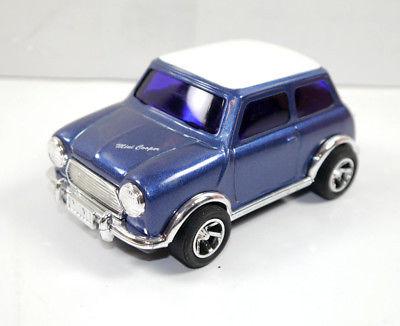 GARAGE MINI - Mini Cooper blau blue Blechauto Modellauto ICHIKO ca.13cm (K8)