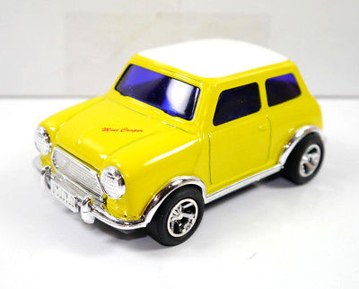 GARAGE MINI - Mini Cooper gelb yellow Blechauto Modellauto ICHIKO mit OVP (K8)