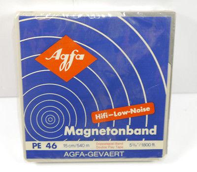 AGFA Magnetonband PE 46 15cm / 540m Doppelspiel-Band Hifi-Low-Noise NEU (K61)