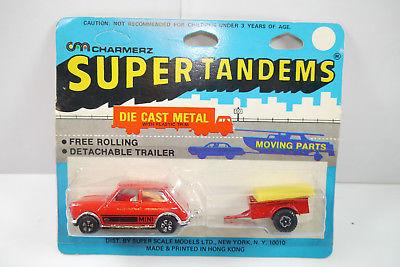 Polyart  Super Tandems Mini Cooper mit Hänger Neu OVP ca. 12cm (K20)