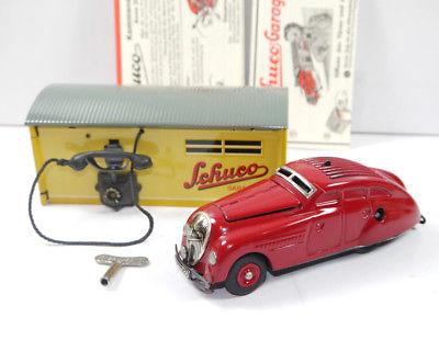 SCHUCO 01070 Garage mit Kommandoauto Auto rot Replica m.OVP (K39) 3
