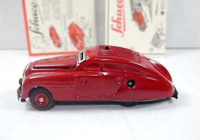 SCHUCO 01070 Garage mit Kommandoauto Auto rot Replica m.OVP (K39) 7