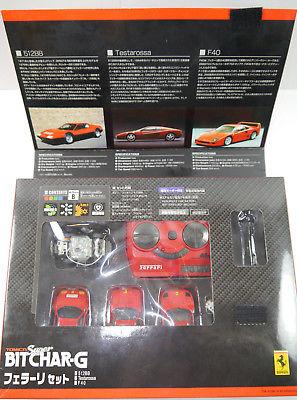 TOMY Super Bitchar-G Ferrari 3er Set Auto ferngesteuert - mit OVP (K65) 0