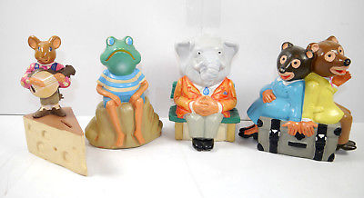 KKB BANK 4er Set Frosch Elefant Maus Bär Spardose Sparschwein money bank (K3)