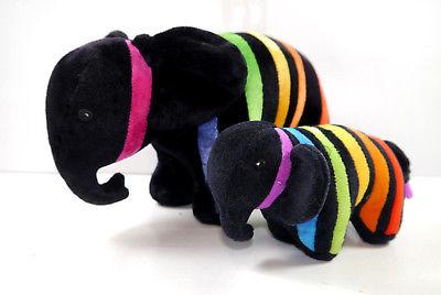 CAPAROL 2er Set Elefant Plüschtier Stofftier Werbefigur Maskottchen (K67)