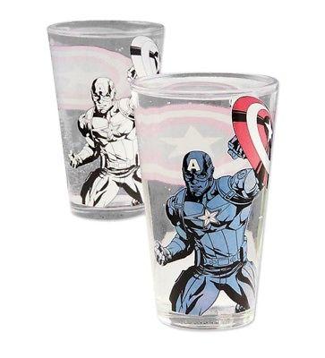 Marvel AVENGERS Captain America Colour Change Glas glass PALADONE Neu (L)