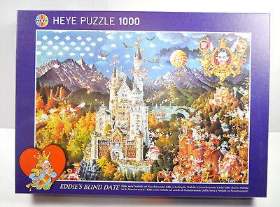 Heye  Puzzle Eddie´s Blind Date Nathalie  Neuschwanstein RYBA 1000 Teile #C *MF8