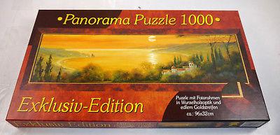 M.I.C. Panorama Puzzle Exklusiv Edition Toskana Bucht 1000 Teile KOMPLETT #F MF8