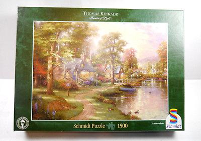 Schmidt Puzzle 57452 Thomas Kinkade - Am See 1500 Teile KOMPLETT #D (MF8)