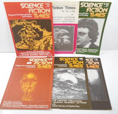 SCIENCE FICTION TIMES - 6 Hefte Zeitschrift 1982 VOLKSVERLAG (WRZ)