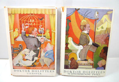 DOKTOR DOLITTLES 2 Bände Buch gebunden HUGH LOFTING Williams & Co. (WRZ) 0