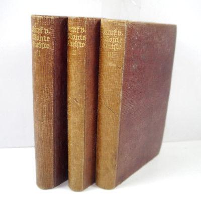 DER GRAF VON MONTE CHRISTO Band 1 2 3 Buch Gebunden GLOBUS BERLIN M66 (WRX)