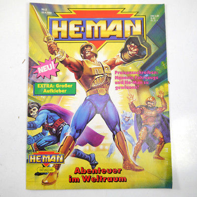 HE-MAN Masters of the Universe Heft 5 / April 1989 Zeitschrift mit Beilagen *WRY
