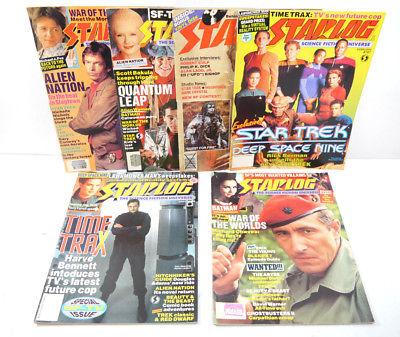 STARLOG 6 Hefte Zeitschrift englisch / Star Trek Batman Back to the Future (WRY)