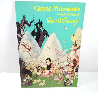 Great Moments from the films of WALT DISNEY Artbook SC RUTLEDGE PRESS (B3)