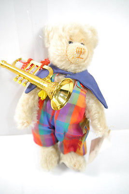 SIGIKID Club - Clown Teddy Bär bear Michi mit Trompete Stofftier ca. 24cm (K12)