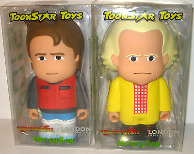 Back to the Future  2015 Marty McFly & Dr. Brown Money Box TOONSTAR TOYS (L)