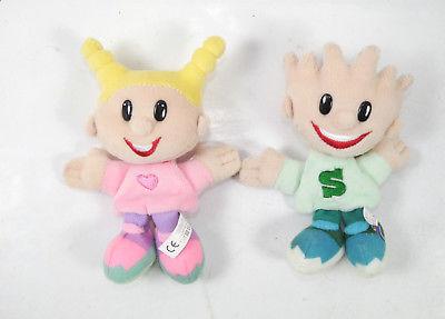 SMARTIES 2er Set Kids Kobolde Magnete Stofftier Maskottchen Werbefigur (K75)