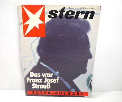 STERN Extra Ausgabe Nr. 2 / 1988 Magazin Zeitschrift JOSEF STRAUß (WR7)