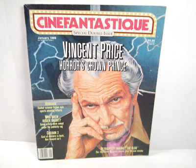 CINEFANTASTIQUE Vol. 19 Nr. 1 & 2 Film Magazin Zeitschrift VINCENT PRICE (WR7)