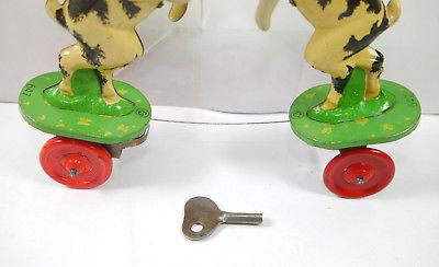 VEB MS BRANDENBURG 647 Ziegenböcke mechanisch Blechspielzeug DDR 50er m. OVP F7* 1