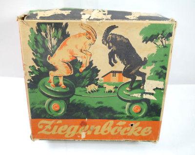 VEB MS BRANDENBURG 647 Ziegenböcke mechanisch Blechspielzeug DDR 50er m. OVP F7* 6