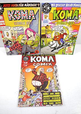 KOMA Comix - Heft 22 23 24 / 1999 2000 Comic WEISSBLECH VERLAG (MF5)