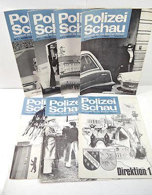 POLIZEISCHAU Berliner Polizei - 7 Hefte Zeitschrift Magazin 60/70er BARTELS *MF5