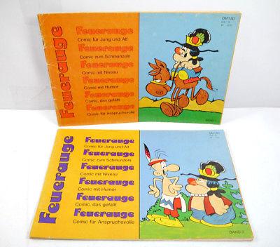 FEUERAUGE Band 1 + 2 Comic Heft Album KOMPLETT K.H.Löding GmbH (MF5)