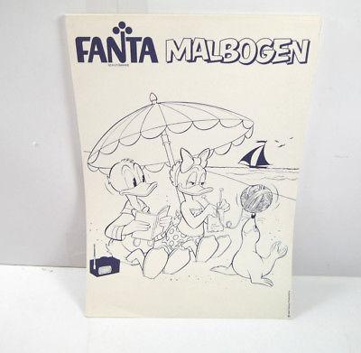 FANTA MALBOGEN mit Donald & Daisy Duck Motiv WALT DISNEY Werbeartikel (WR1)