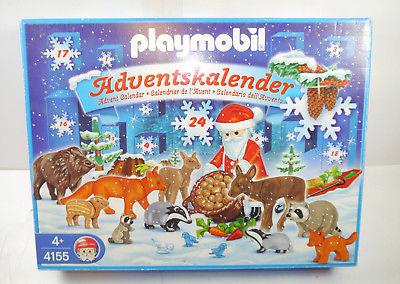 PLAYMOBIL 4155 Weihnachtsmann Wildfütterung Adventskalender 2007 NEU (F21)